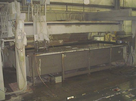 PAR 6' x 10' x 2' WATER CUTTING, GANTRY,DOUBLE CUTTING HEAD, 50 HP, 1997