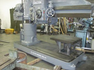 6' x 15 , CARLTON,15-1500 RPM,12 SPINDLE TRAVEL,PWR CLAMPING/ELEVATION, 1958