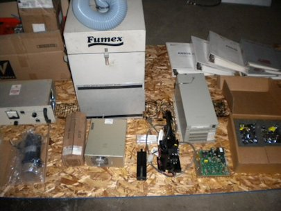 CMS 5050Y PRODUCTION LASER MARKING MACH.2-50 WATT DIODE LASERS,PARTS CONV. 2003