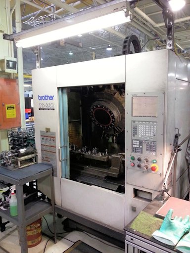 27.5 X, 14.17 Y, 12.6 Z, BROTHER TC-S2B,CNC/CRT,10000 RPM,INDEXER,RIGID, 2003