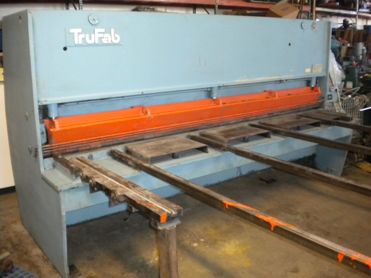 1/4 x 10' TRUFAB S1025, 36 MANUAL BACKGUAGE ,SQUARING ARM,